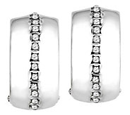 Diamond Fascination Sterling Hinged Hoop Earrings - J309944