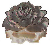 Lee Sands Mother-of-Pearl Flower Pin/Pendant - J315044