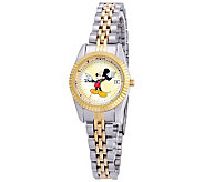 Disney Womens Mickey Two-Tone Watch - J315544