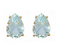 Pear Shaped 2.50 cttw Aquamarine Stud E arrings, 14K - J315944