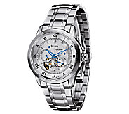 Bulova Mens Stainless Steel White Dial Automatic Watch - J316444