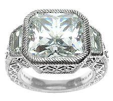 Judith Ripka Sterling 10.65 cttw Diamonique Ring