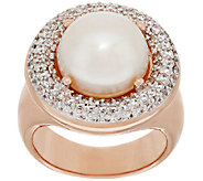 Honora Cultured Pearl 11.5mm Bronze Crystal Ring - J319244