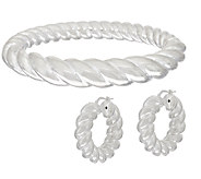 UltraFine Silver Bold Twisted Hoop Earrings or Bangle - J320444