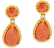 The Elizabeth Taylor Coral Drop Earrings - J323344