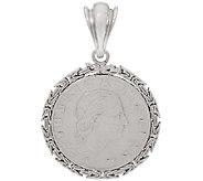 Vicenza Silver Sterling 200 Lire Coin Byzantine Pendant - J323944