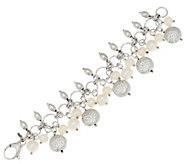 As Is Honora Cultured Pearl Bronze Charm Bracelet - J327144