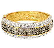 As Is Joan Rivers Elegant Crystal Hinged Bangle - J327844