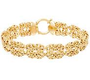 14K Gold 8 Double Byzantine Station Bracelet, 6.9g - J329744