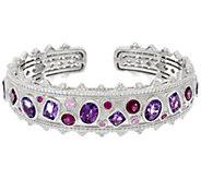 Judith Ripka Sterling 10.20 cttw Multi-Gemstone Cuff Bracelet - J331544