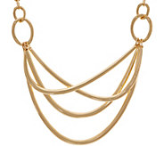 Linea by Louis DellOlio Trapeze Metal Criss Cross Necklace - J331644