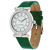 Judith Ripka Stainless Steel Leather Parisian Watch - J331844