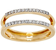 As Is White Diamond Ring Guard, 14K Gold 1/4 cttw by Affinity - J332244