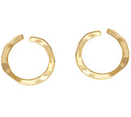 RLM Bronze Front Facing Circle Hoop Earrings - J334744