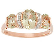 Csarite & Diamond 3-Stone Ring 14K Gold 2.00 cttw - J335744