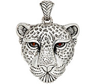 JAI Sterling Silver Leopard Enhancer, 29.4g - J346044