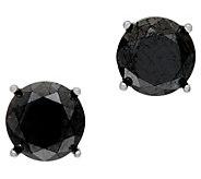Black Diamond Stud Earrings Sterling, 2.00 cttw by Affinity - J346544