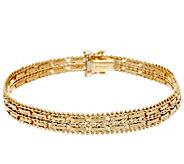 Imperial Gold 7-1/4 Mirror Bar Bracelet, 14K, 17.4g - J348444