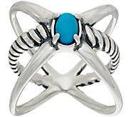 Carolyn Pollack Sterling Silver Gemstone XO Ring - J349744