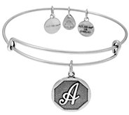 Alex and Ani Silvertone Initial Charm Bangles - J351844