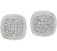 White Diamond 1/4 cttw Cushion Shape Studs, Sterling by Affinty - J352044