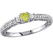 Yellow & White 3-Stone Ring , 14K, 1/2 cttw, byAffinity - J376744
