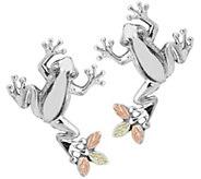 Black Hills Frog Earrings Sterling Silver, 12KGold - J379444