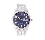 Timex Mens Goldtone Expansion Band Dress Watch - J103745