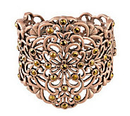Filigree & Crystal Cuff Bracelet - J261745