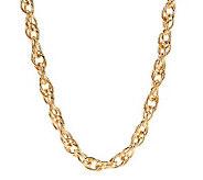 Textured Interlocking Chain Necklace by VT Luxe - J266545