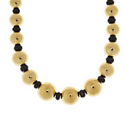 Oro Nuovo 20 50.00 ct tw Black Spinel & Graduated Bead Necklace, 14K - J281445