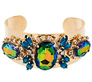 Susan Graver Faceted Crystal Statement Cuff Bracelet - J290345