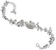 Silver Style Sterling Noahs Ark Station Bracelet - J291445