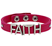 Stainless Steel Faith Silicone Adjustable Bracelet - J294245