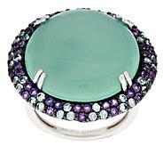 Graziela Gems Chalcedony & Gemstone Bold Sterling Ring - J295745