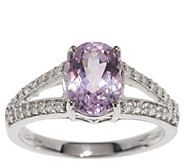 2.40 ct tw Oval Kunzite & White Zircon Sterling Ring - J295845