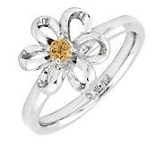 Simply Stacks Sterling Twisted Petals GemstoneFlower Ring - J299245