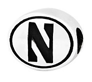 Sterling Silver Northwestern University Bead - J300745