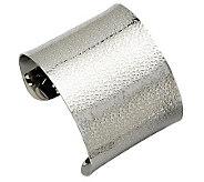 Stainless Steel Textured Cuff Bracelet - J302145