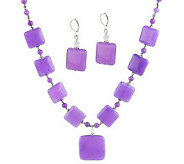 Stone & Crystal Necklace and Earring Set by Garold Miller - J306645