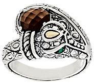 JAI Sterling & 14K Gemstone Croco Ring - J317745
