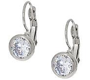 Steel by Design Crystal Bezel Set Drop Earrings - J319745