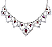 The Elizabeth Taylor 6.40cttw Legacy of Love Simulated Ruby Necklace - J319845