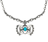 Sterling Silver Necklace w/ Butterfly Enhancer by American West - J321445