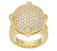Judith Ripka Sterling & 14K Clad Pave Diamonique Ring - J322845