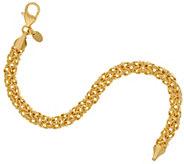 Bronze Polished Byzantine Bracelet by Bronzo Italia - J323045