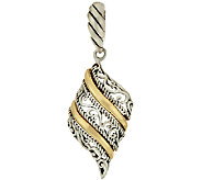 Carolyn Pollack Sterling Brass Signature Scroll Design Enhancer - J324245