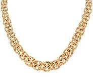 14K Gold 18 Textured & Polished Byzantine Necklace, 34.2g - J324645