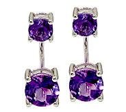 Gemstone Sterling Silver Earring Jackets 3.00 cttw - J325545