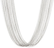 Italian Silver Sterling 24 Multi-Strand Necklace, 71.7g - J330745